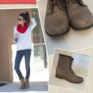 Steve Madden grey combat boots size 8 WEEKEND SALE